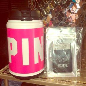 FREE w/$50 purchase Pink jug &stick on card slot